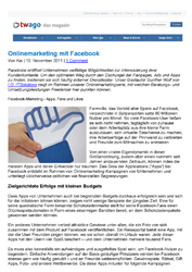 Literatur Onlinemarketing mit Facebook