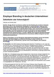 Literatur Employer Branding in deutschen Unternehmen