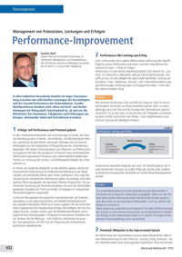 Performance Management Performance Improvement: Management von Potenzialen, Leistungen und Erfolgen
