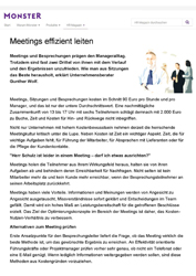 Literatur Meetings effizient leiten