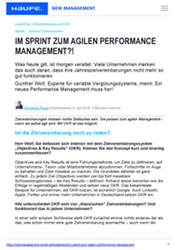 Sprint Leadership Literatur agiles Performance Management